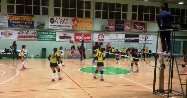 Πρωτάθλημα Κορασίδων: Φιλ/κος Αμπελώνα – Φιλαθλητικός Λάρισας: 0-3 σετ