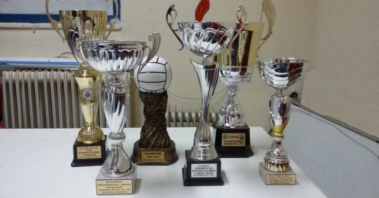 Τα τρόπαια του Φιλαθλητικού της αγωνιστικής περιόδου 2018-2019.